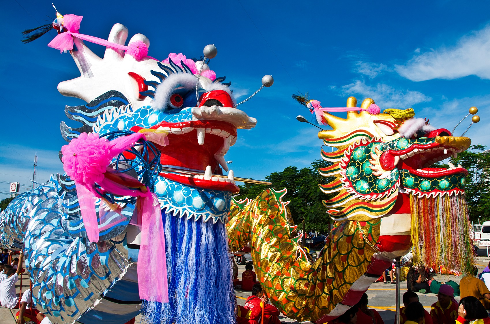 Chinese dragons celebrations