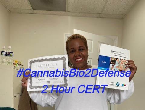 Get Your CERT in #CannabisBio2Defense