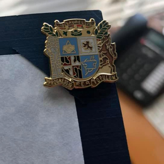 Pin (Honor) presented to Dr. Michael O. Dixon, on May 18, 2019 @Kente Celebration, Fashion Show, and Birthday Party.