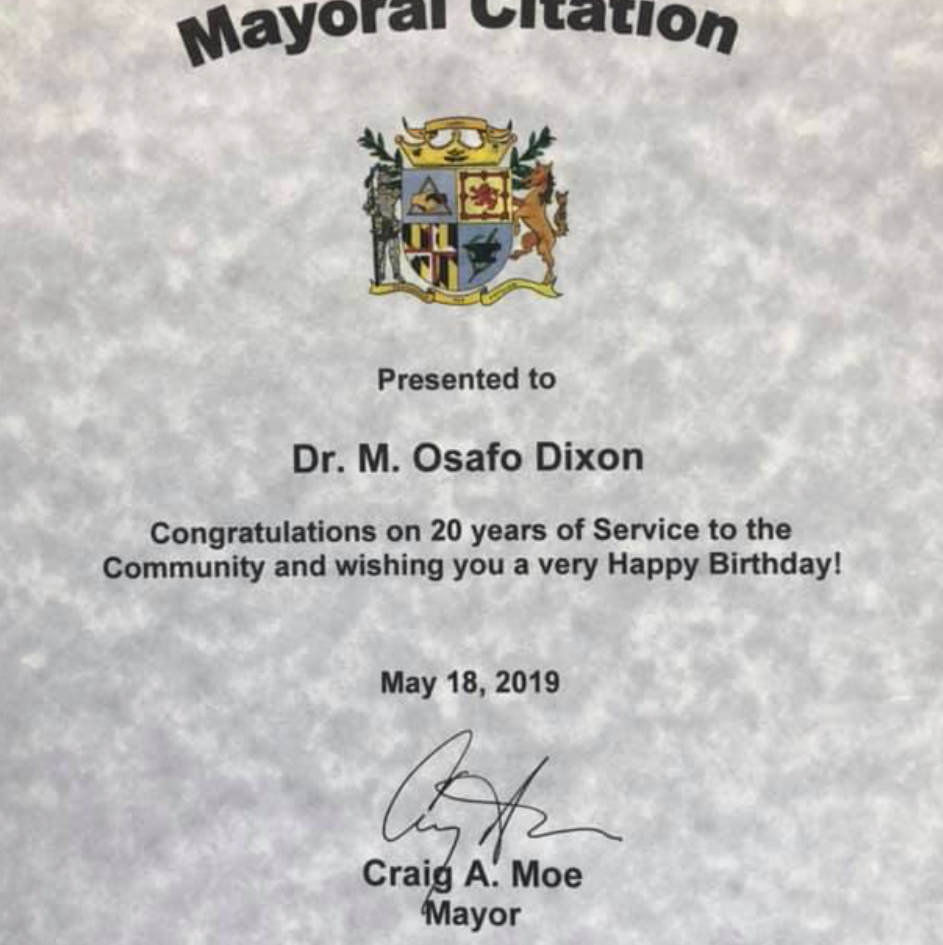 City Recognition #20YearsHerbalist