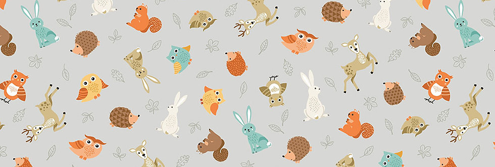Animal Scatter Grey