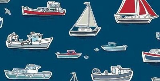 Boats Blue