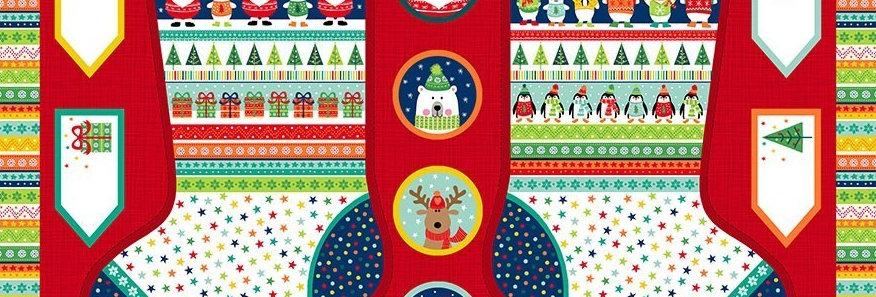 Novelty Christmas Large Stocking Panel