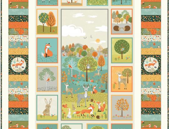 Makower Forest Quilt Kit