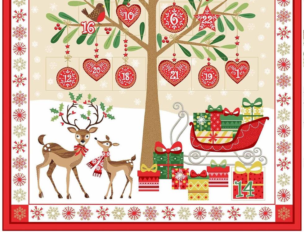 Metallic Christmas Advent Panel