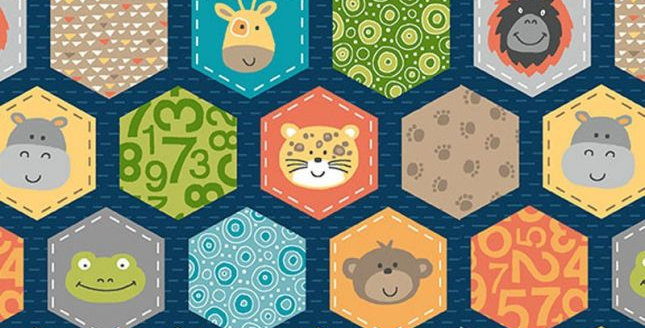 Jungle Friends Hexagons