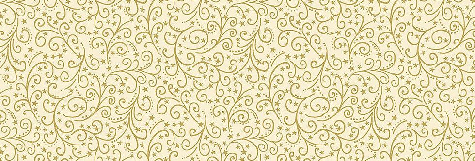 Metallic Scroll Cream