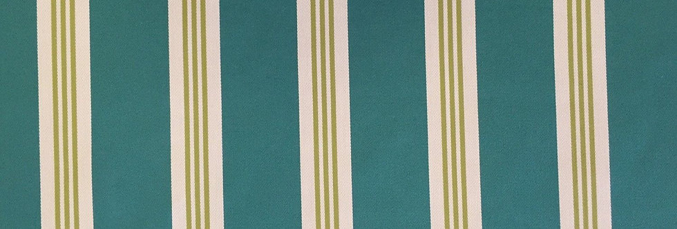 Wide Stripe - Teal and Green Stripe