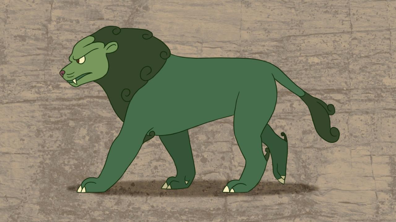 Green Lion Walk Cycle