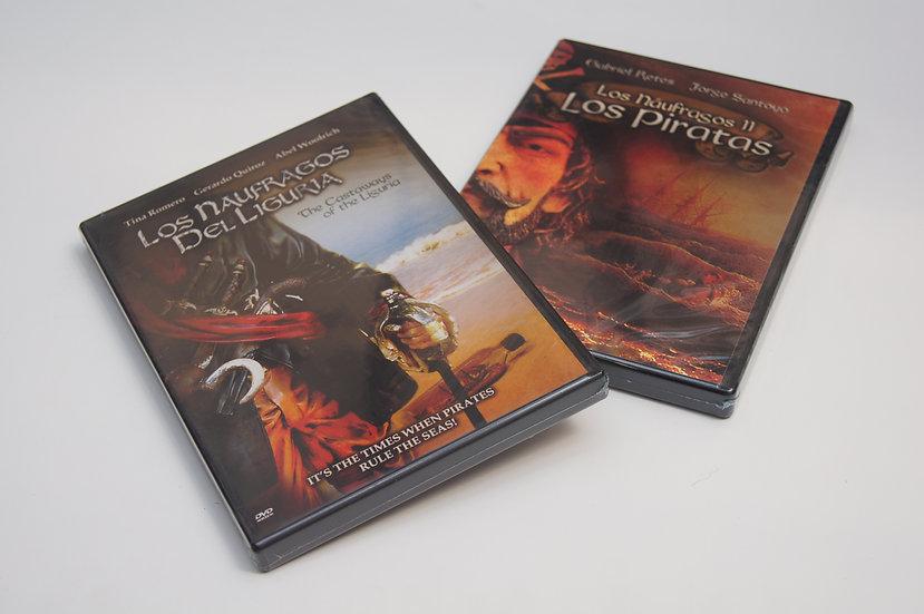 DVDs Los Náufragos del Liguria y Náufragos II: los Piratas