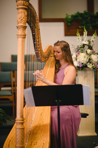 Harp music is an elegant choice for any wedding ceremony.
