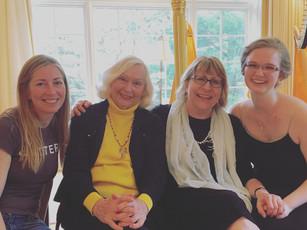 Melanie and her teachers Elizabeth Hainen, Susann McDonald, and Elzbieta Szmyt