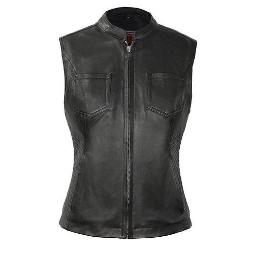 MKL - Cosina Women's Motorcycle Leather Vest