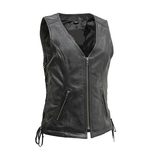 MKL - Carla Women's Leather Motorcycle Vest
