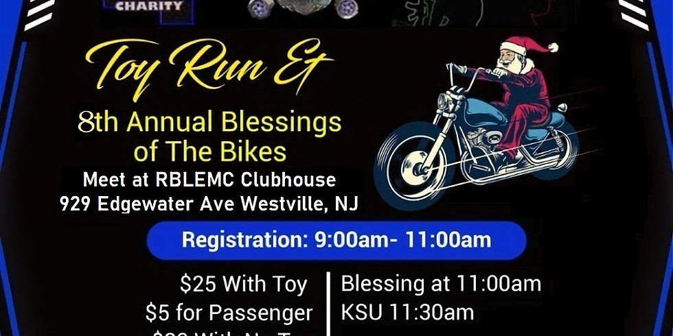 Rolling Badges Toy Run & 8th Annual Blessings of the Bikes