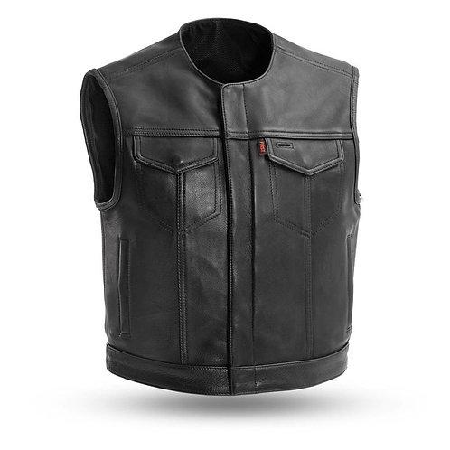 MKL - Carlo Men's Leather Motorcycle Vest
