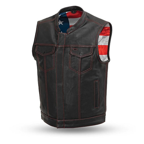 MKL - Neom Free Men's Motorcycle Leather Vest