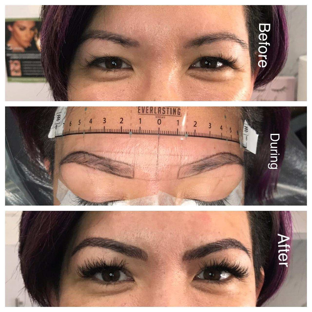 Brow mapping for microblading