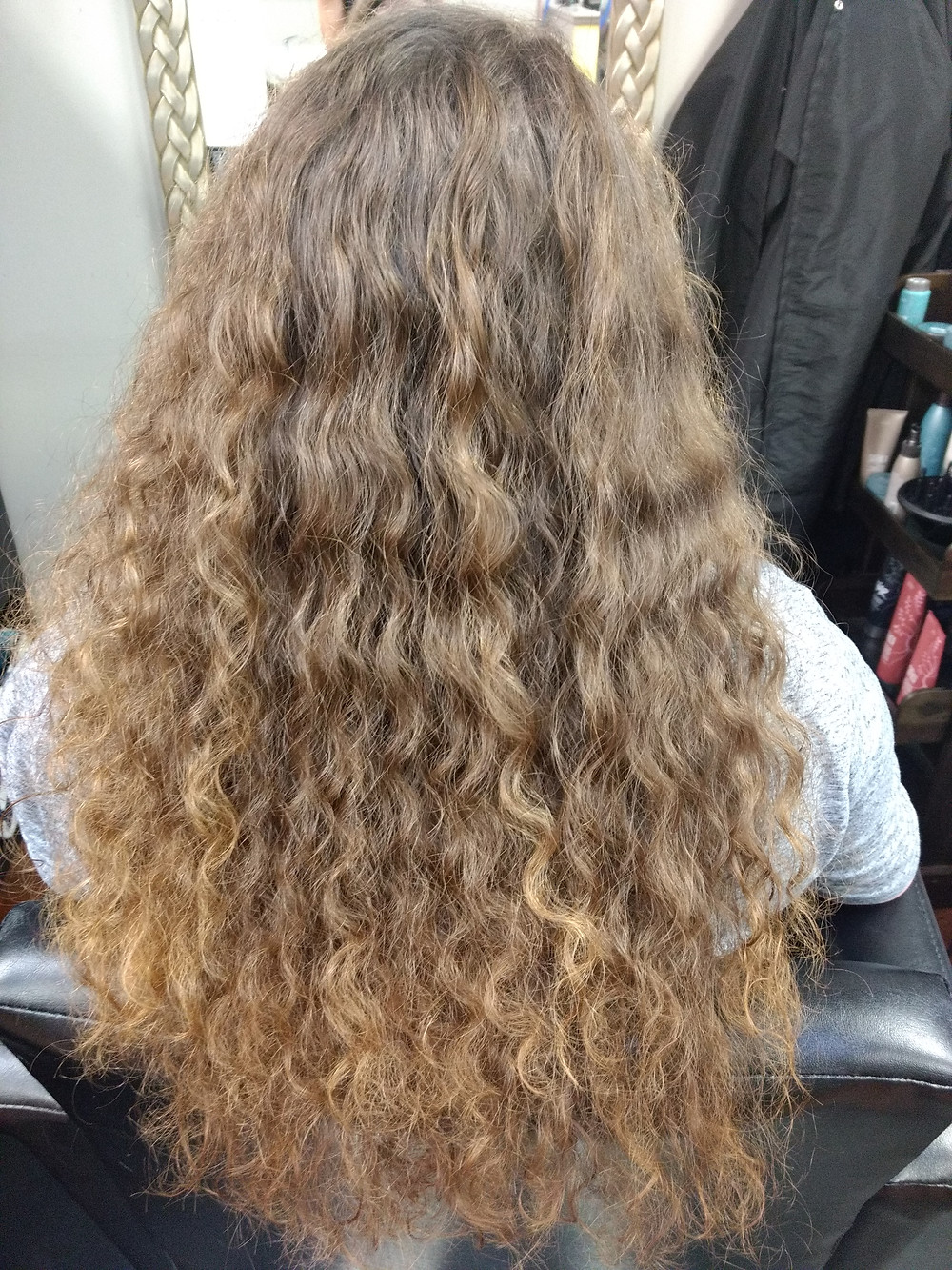 Before Curls Treatment