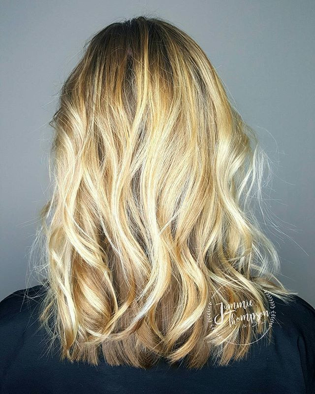 Blonde Partial Balayage Highlight, Jacksonville Hair