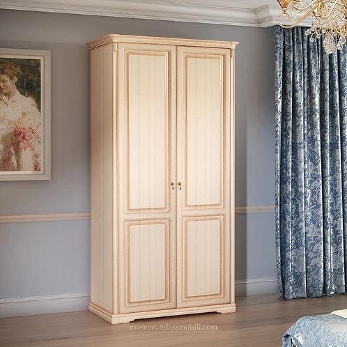 Шкаф 2-дверный (без зеркал) для платья и белья