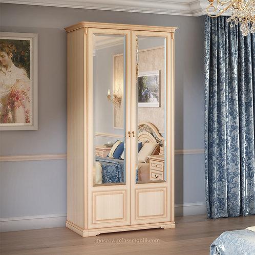 Шкаф 2-дверный для платья и белья