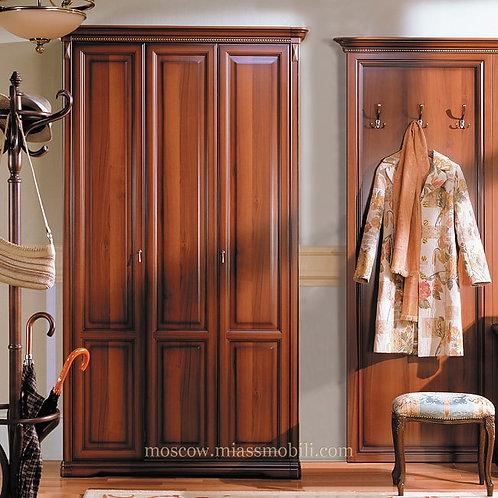 Шкаф трёхдверный для прихожей Джоконда орех