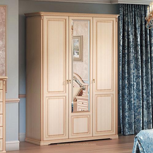 Шкаф 3-дверный для платья и белья