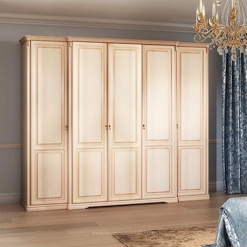 Шкаф 5-ти дверный (без зеркал) для платья и белья