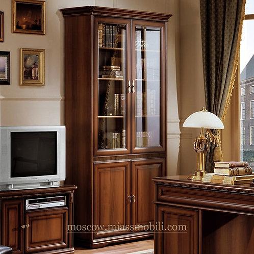 Шкаф для книг двухдверный Джоконда орех