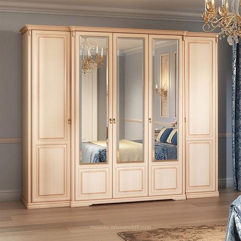 Шкаф 5-ти дверный для платья и белья