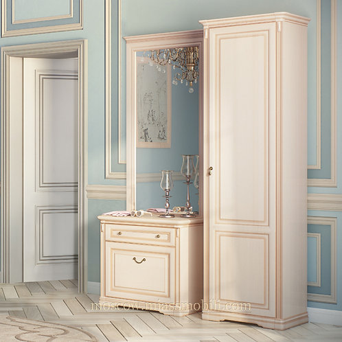 Шкаф однодверный для прихожей (правый) Джоконда крем
