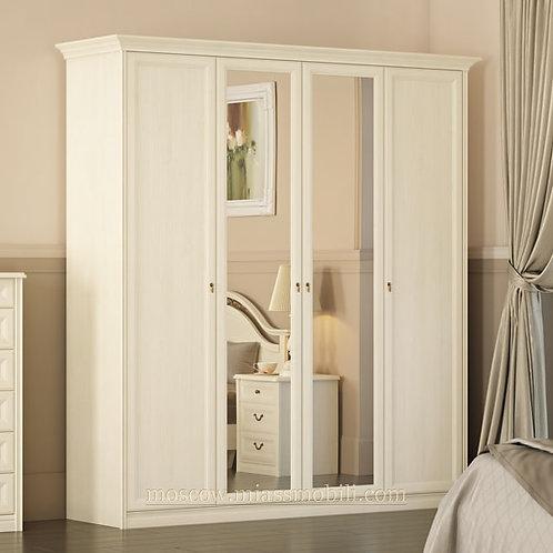 Шкаф 4-дверный Екатерина крем