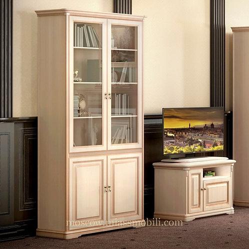Шкаф для книг двухдверный Джоконда крем