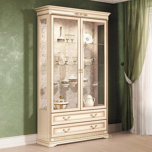 Шкаф двухдверный для посуды Джоконда крем