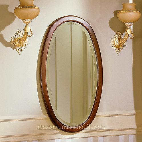 Зеркало навесное овальное к столу консольному Джоконда орех