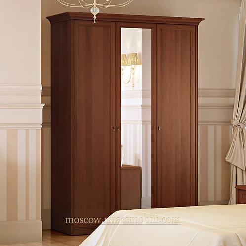 Шкаф 3-дверный для платья и белья Екатерина орех