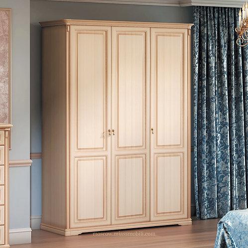 Шкаф 3-дверный (без зеркал) для платья и белья