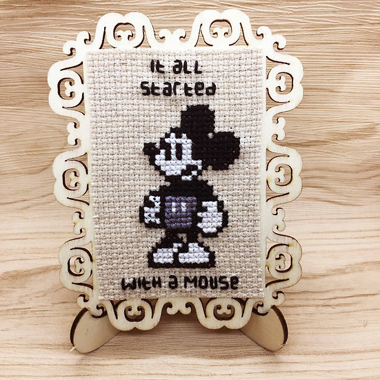 Mickey Mouse Cross Stitch | Home Decor