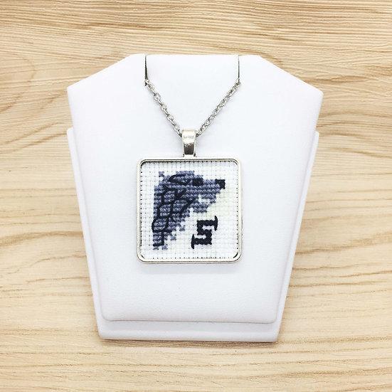 House Stark Emblem Cross Stitch   Pendant