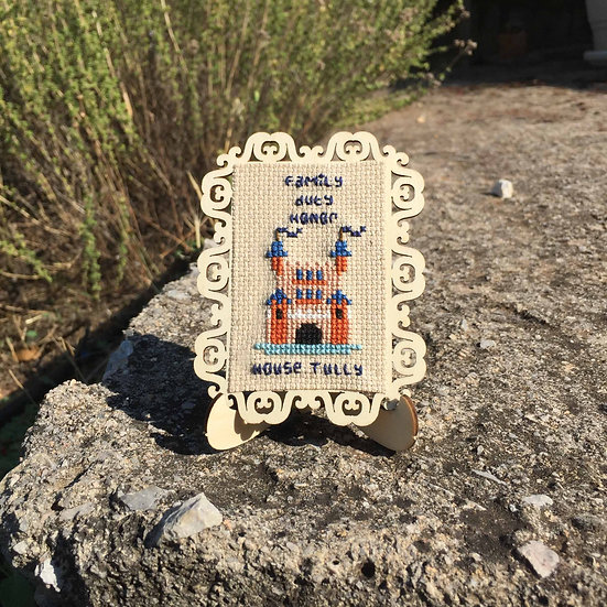 House Tully Castle Cross Stitch   Game of Thrones