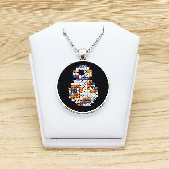 BB8 Cross Stitch | Pendant