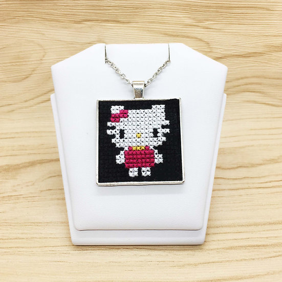 Hello Kitty Cross Stitch | Pendant