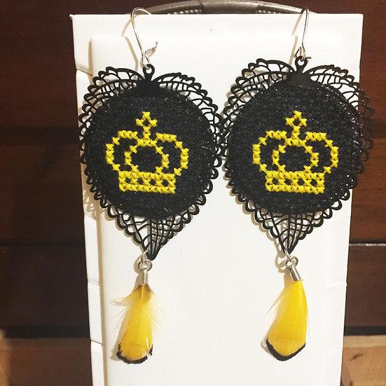 Crown Cross Stitch | Earrings