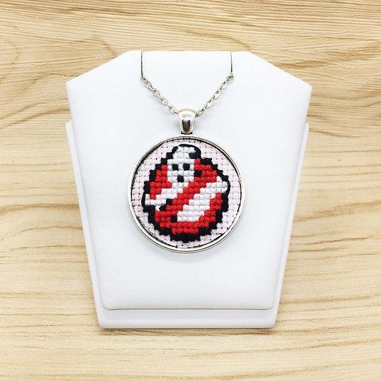 Ghostbusters Cross Stitch | Pendant