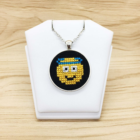 Innocent Emoji Cross Stitch | Pendant