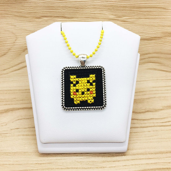 Pikachu Cross Stitch | Pendant