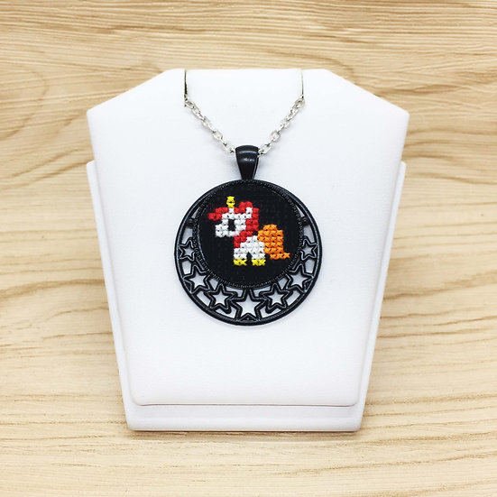 Unicorn Cross Stitch | Pendant