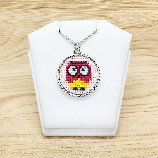 Owl Cross Stitch | Pendant