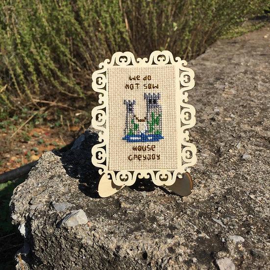 House Greyjoy Castle Cross Stitch | Game of Thrones